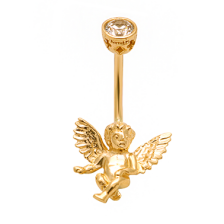 KP ANGEL Gold Belly button rings navel Piercing body jewelry