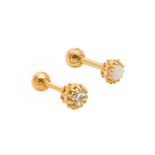 KPE 2945 Antique Stud Gold Earring Piercing