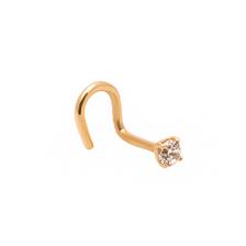 3mm CZ Gold Stud Nose Piercing