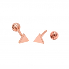 KPE 2550 Triangle Gold Cartilage Helix Stud Earring Piercing
