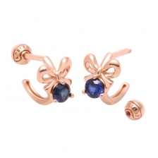 KPE 4109 Sapphire Hoop style Gold Earring Piercing
