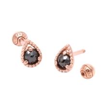 KPE 4075 Diamond Waterdrop shape Gold Earring Piercing