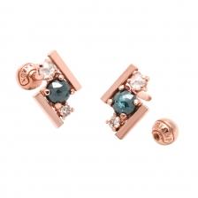 KPE 4079 Diamond Gold Earring Piercing