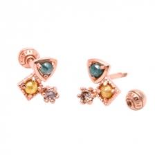 KPE 1352 Diamond Gold Earring Piercing