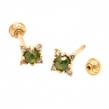 KPE 4053 Diamond Gold Earring Piercing