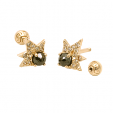 KPE 4118 Diamond Gold Earring Piercing