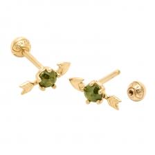 KPE 4051 Arrow Diamond Gold Earring Piercing