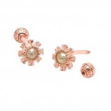 KPE 4078 Diamond Gold Earring Piercing