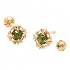 KPE 4054 Diamond Gold Earring Piercing