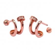 Double Wire 006 Hoop style Gold Earring Piercing