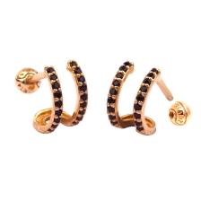 Double Wire 005 Hoop style Gold Earring Piercing