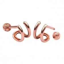 Double Wire 002 Hoop style Gold Earring Piercing