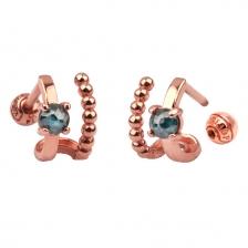Double Wire 001 Hoop style Gold Earring Piercing
