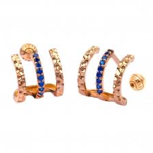 Triple Wire 002 Hoop style Gold Earring Piercing
