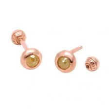 KPE 2571 Diamond Gold Earring Piercing