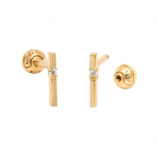 KPE 4245 Gold Cartilage Helix Stud Earring Piercing