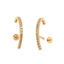KPE 4287 Gold Cartilage Helix Stud Earring Piercing
