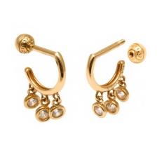 KPE 4293 Hoop style Gold Earring Piercing