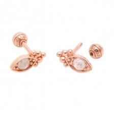 KPE 1244 Diamond Gold Earring Piercing