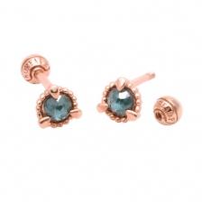 KPE 1357 Diamond Gold Earring Piercing