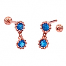 KPE 4340 Gold Cartilage Helix Stud Earring Piercing