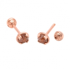 KPE 2979 Diamond Gold Earring Piercing