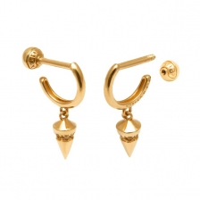 KPE 4294 Hoop style Gold Earring Piercing