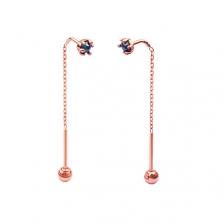 KPE 4346 Gold Diamond chain Gold Cartilage Helix Stud Earring Piercing