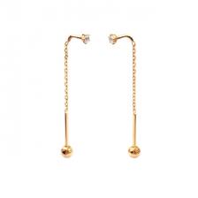 KPE 4345 Gold Diamond chain Gold Cartilage Helix Stud Earring Piercing