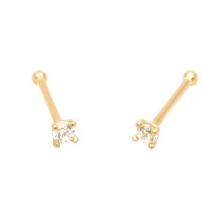 KPN 015 CZ Gold 20G Stud Nose Ring Bone Piercing