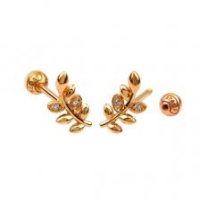 KPE 4379 Gold Cartilage Helix Stud Earring Piercing