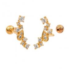 KPE 4376 Gold Cartilage Helix Stud Earring Piercing