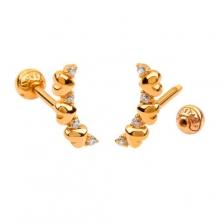 KPE 4373 Gold Cartilage Helix Stud Earring Piercing