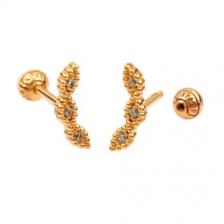 KPE 4375 Gold Cartilage Helix Stud Earring Piercing