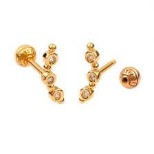 KPE 4377 Gold Cartilage Helix Stud Earring Piercing