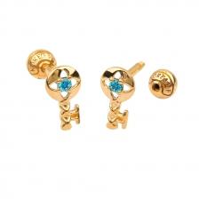 KPE 4386 Gold Key shaped Cartilage Stud Earring Piercing