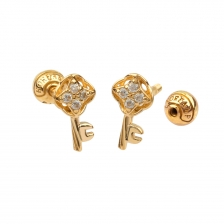 KPE 4385 Gold Key shaped Cartilage Stud Earring Piercing