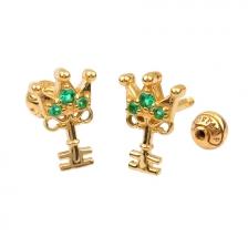 KPE 4382 Gold Key shaped Cartilage Stud Earring Piercing