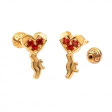 KPE 4381 Gold Key shaped Cartilage Stud Earring Piercing