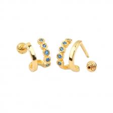 Double Wire 009  Cartilage Helix Earring Piercing