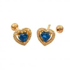 KPE 4400 Blue Topaz Heart Cartilage Helix Earring Piercing