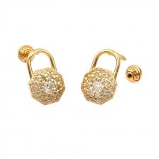 KPE 4401 Lock Shape Cartilage Helix Earring Piercing
