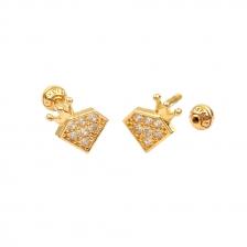 KPE 4402 Crown Shape Cartilage Helix Earring Piercing