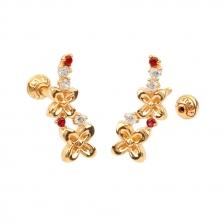 KPE 4403 Flower Cartilage Helix Earring Piercing