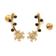 KPE 4404 Flower Cartilage Helix Earring Piercing
