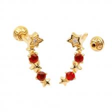 KPE 4405 Stars Cartilage Helix Earring Piercing