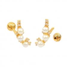 KPE 4407 Pearl Cartilage Helix Earring Piercing
