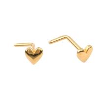 KPN 035 Heart Gold Stud Nose Piercing
