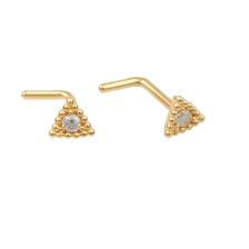 KPN 036 Gold Stud Nose Piercing