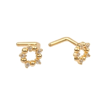 KPN 037 Gold Stud Nose Piercing